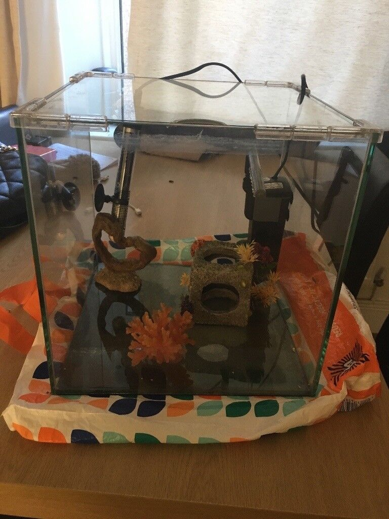 Heated fish tank for sale - pick up only
