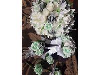 Artificial custom made wedding flowers