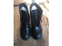 Dr Martens Vegan 1460 Black 8 Hole Boots - UK size 9.5