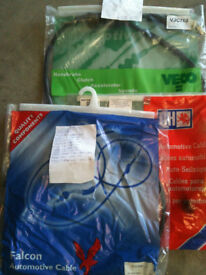 Clutch and brake cables ,at least 125 , all new old stock, bagged / labelled