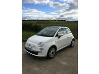 Great Spec 2014 Fiat 500 (Lounge) White, Start/Stop, FSH. Lovely condition.
