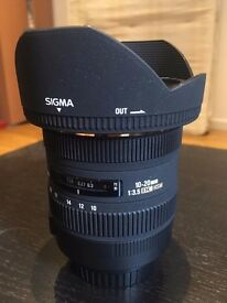 Sigma 10-20mm f/3.5 ex dc hsm CANON fit wide angle
