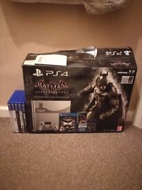 PS4 Batman Arkham Knight 500GB Console with games.