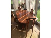 Large dining table & 5 chairs