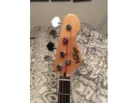 Vintage Brand, Jazz Bass with Carry Bag