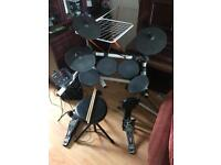 Electric drum set with amplifier