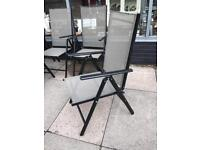 Black Mesh Garden Reclining Chairs - £10 each