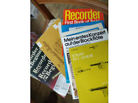 RECORDER MUSIC - mostly books in very good condition