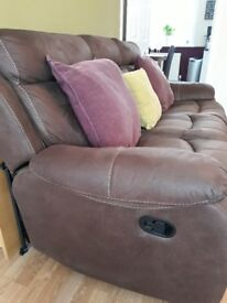 Reclining 3 Seater Sofa and Chair