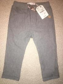 Zara & Next 18-24mths boys trousers one brand new other worn once