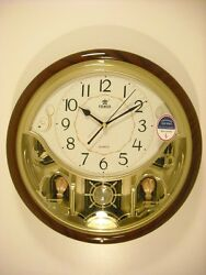 Power Melodies in Motion Wall clock with Swinging pendulum (PW6115JPMKS2)