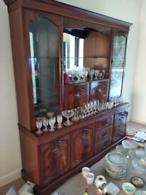 Large wooden sideboard / display cabinet