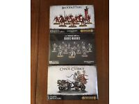 Warhammer - Bloodletters, Chaos Chariot, Rubric Marines ALL SEALED