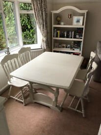 Shabby Chic style dining table and chairs
