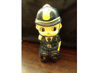 vintage paper mache policeman bobby money box