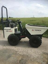 Terex 1 Ton high lift Dumper, Kubota diesel Engine