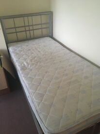 Single bed frame + mattress