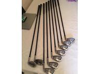 Yonex v-mass 270 full set irons and 3-5 wood