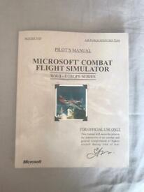 ORIGINAL Microsoft pc combat flight simulator game manual book