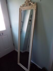 Shabby Chic Full Length Mirror Exc Cond