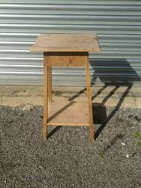 Plant stand with under shelf