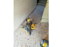 Dewalt mitre saw and stand for sale . Perfect working order . 110 volt .