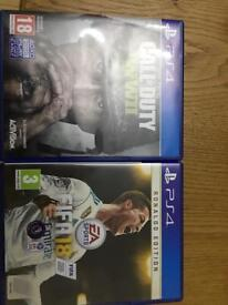 Ps4 Fifa 18 and COD WW2