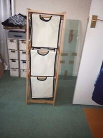 Drawers - 3 tier - Wood & Canvas