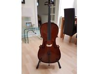 Lovely student 1/2 size cello and case