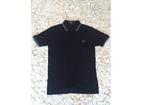 Fred Perry Slim Fit Twin Tipped Polo Shirt. Size Small