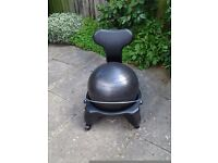 Pilates Balance Ball Chair - suitable for use at desk. Aids posture and core strength.