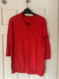Red v neck jumper 16