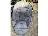NEW ICandy Peach Pushchair liner in grey, unused