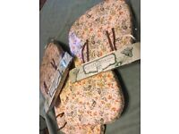 M&S Field Flower kitchen chair cushion pads x4