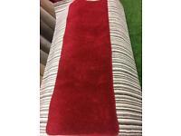 Red saxony carpet runner