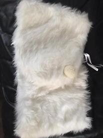 Warm faux fur wedding shawl x 3