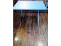 Plastic light weight folding table
