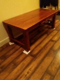 Large solid Hardwood Coffee table