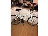 "LADIES MOUNTAIN BIKE, 15 LEVER PRESS GEARS, 26"" WHEELS WITH FRONT AND REAR MUDGUARDS, 18"" FRAME"