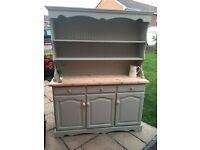 Stunning solid pine Welsh dresser sage green Annie Sloan upcycling