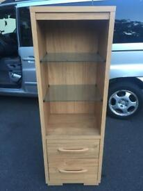 Oak veneer cabinet