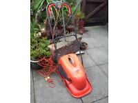 Flymo micro compact lawnmower&a grass collection box.