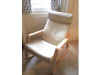 IKEA Poang Rocker with Leather Seat