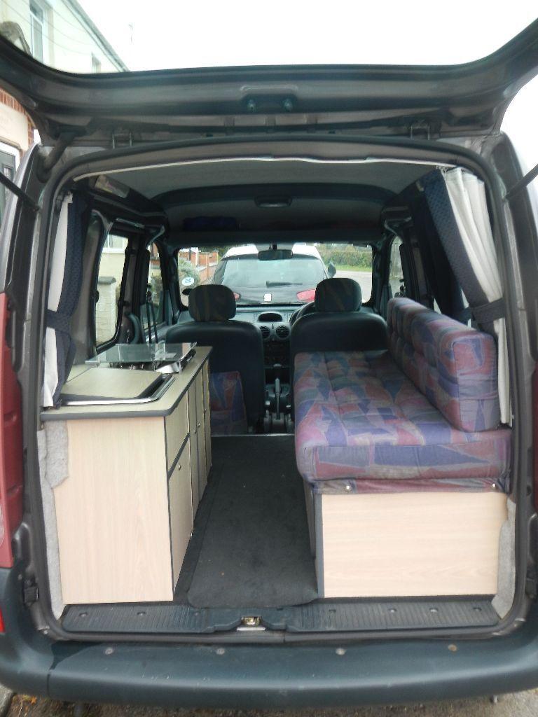 renault kangoo 1 4rxe auto single berth camper van in. Black Bedroom Furniture Sets. Home Design Ideas