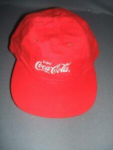 Brand New Coca Cola Baseball Hat Cap Red With White Sewn Letters Adjustable.