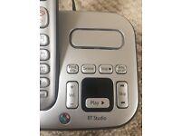 BT Triple Silver Phone Set