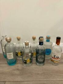 Empty gin bottles for crafting