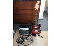Squire Stratocaster, Crate Flexwave 15 amp & accessories