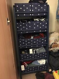 Navy blue star drawers