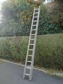 Vintage wooden 12ft ladder